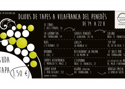 Flyer ruta de les Tapes